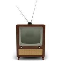 retro 70s television 3d c4d