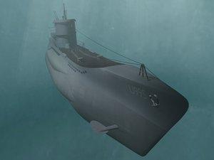 3d german u-boat u995 wwii