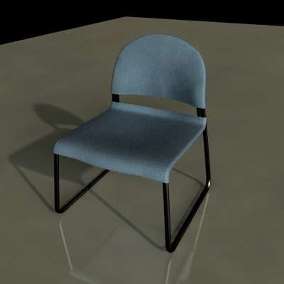 3d model stackable office chair