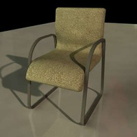 3d model contemporary chair