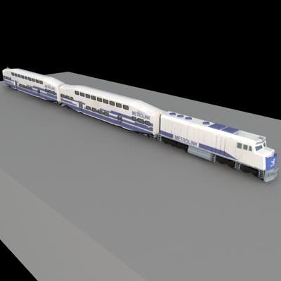 metrolink train southern 3d 3ds