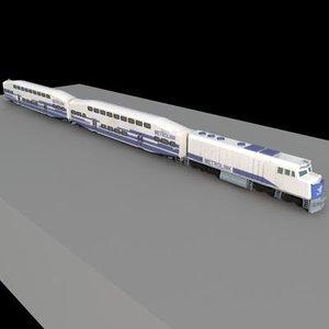 metrolink train southern 3d 3ds
