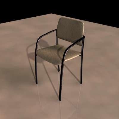 3d model stackable simple metal