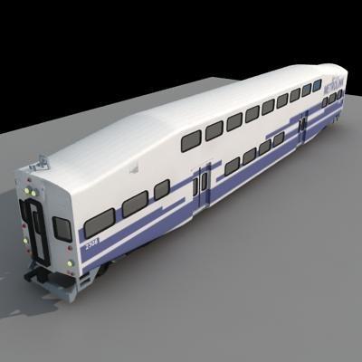 3dsmax metrolink train car