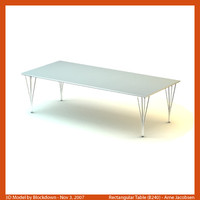 arne jacobsen table 3d model