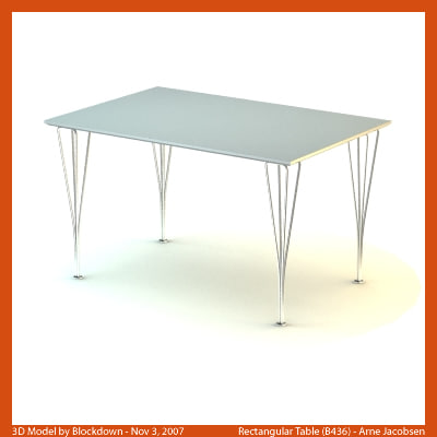 3ds max arne jacobsen table