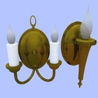 LIGHT FIXTURE - WALL MOUNTED, CANDLE, ANTIQUE