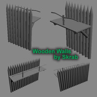 wooden wall 3ds