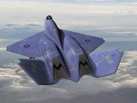 3d military jet fighter yf model