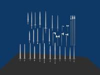 swords axes dual 3d model