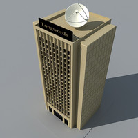 3d model skyscraper building