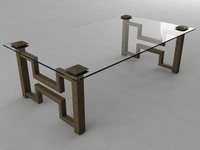 3d glass coffee table model