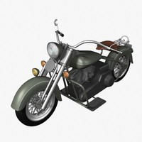 3d model old motorcycle