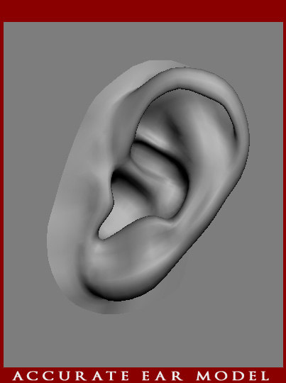 3d accurate human ear modeled
