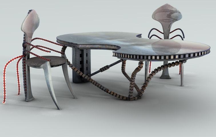 3d model modernist style furniture