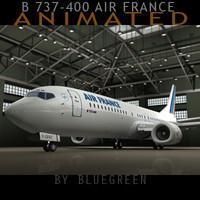 3ds max 737-400 plane air france