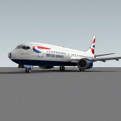 3ds max 737-400 british airways