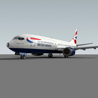 3ds max 737-400 british airways