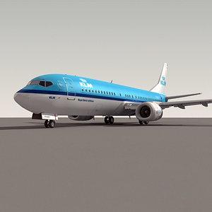 737-400 plane klm 3d model