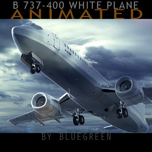 3d model 737-400 plane