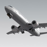 737-400 plane obj