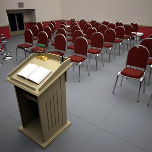 3d auditorium chairs model