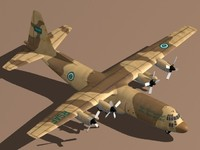 3d model hercules c-130 h-30 royal