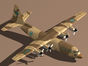 3d model hercules c-130 h-30 royal