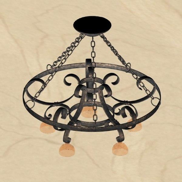 3d chandelier old
