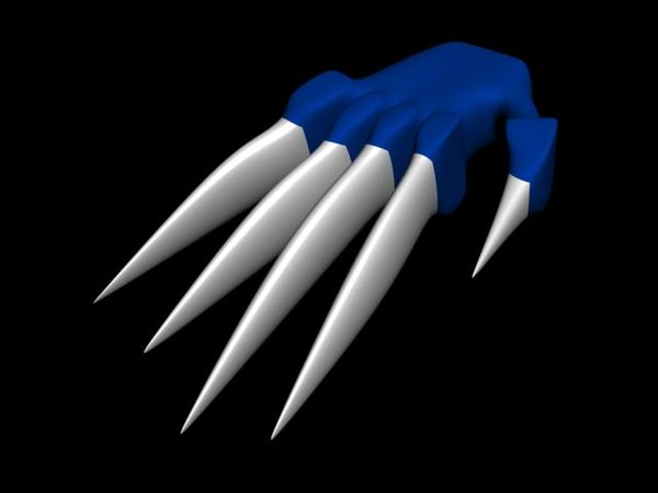 claw glove 3d model