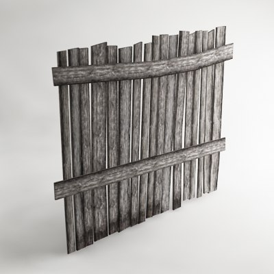 3ds max wooden fence