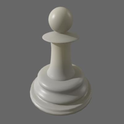 3d chess pawn