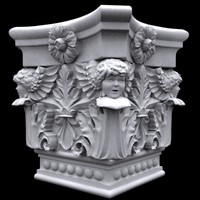 column cupid colum capitel 3ds