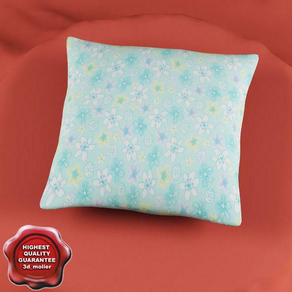 3d model pillow modelled