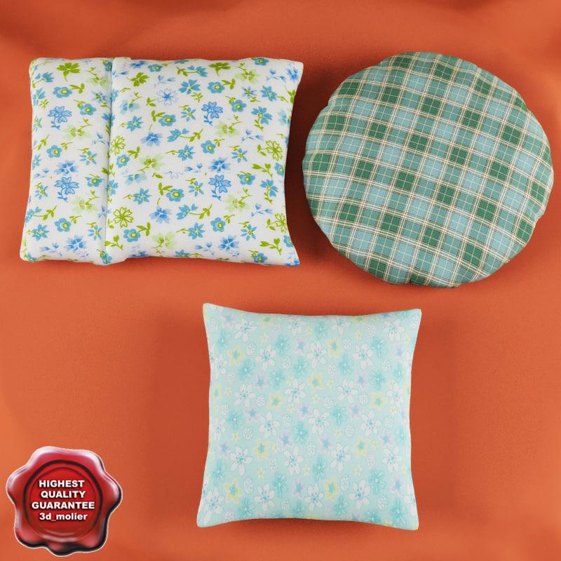 3d model of pillows modelled