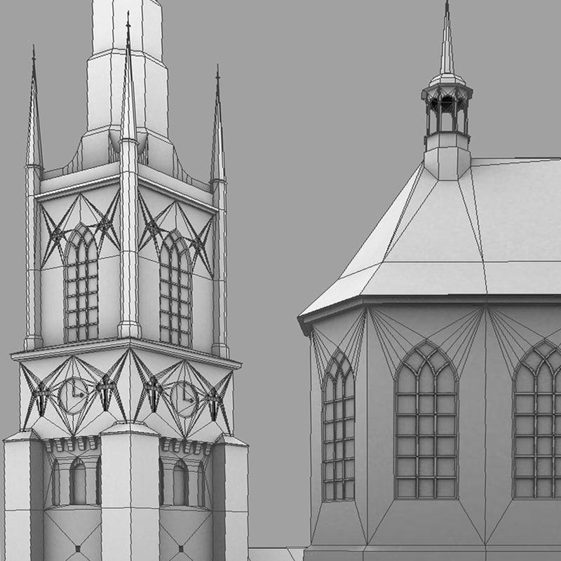 church riddarholmskyrkan architectural 3d model