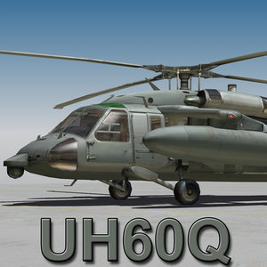 uh60q cockpit engines 3d model