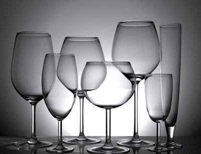 3d model wine glasses set