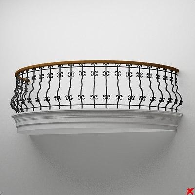 balcony 3d max