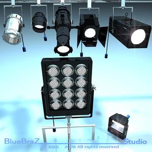 stage lights 3d model