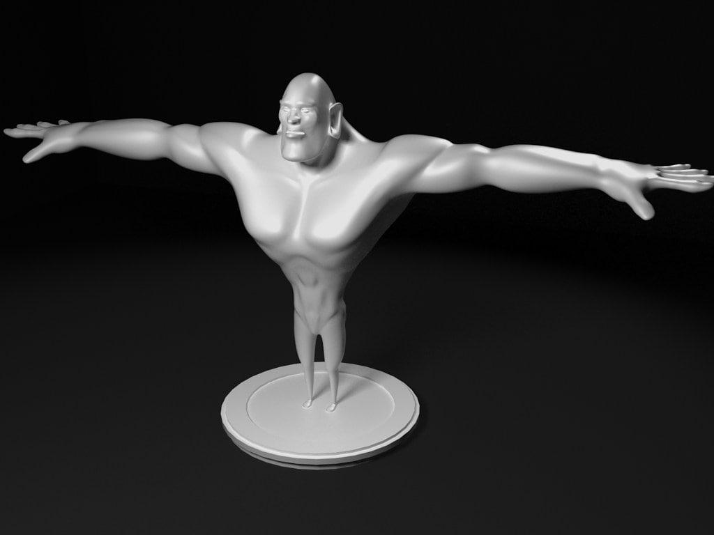big guy 3d model