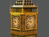 bigben big ben 3d model