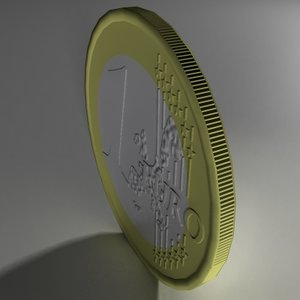 3ds max euro coin