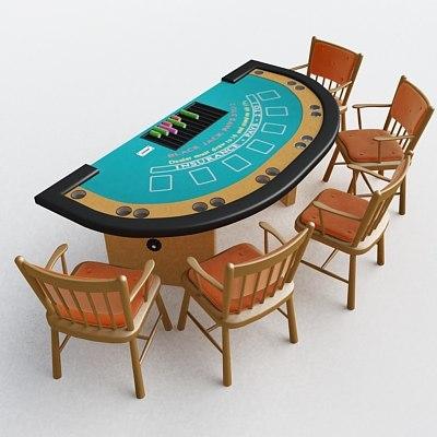 3d model blackjack table