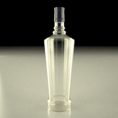 3ds max alcohol bottle