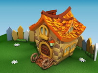 3d model cartoon house