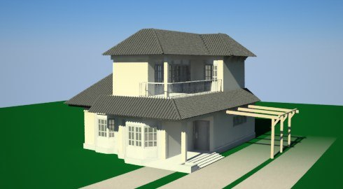 Pictures of simple model houses