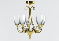 Florence 5 Light Antique Brass Ceiling Light_chandelier.max