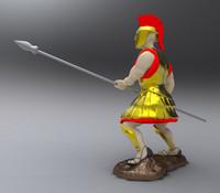 crusader figurine obj