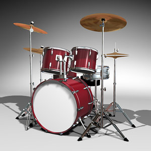 3d model drum set kit
